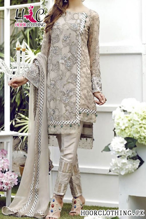 3 Piece Un-Stitched Heavy Embroidery Eid Lawn Collection Master Replica