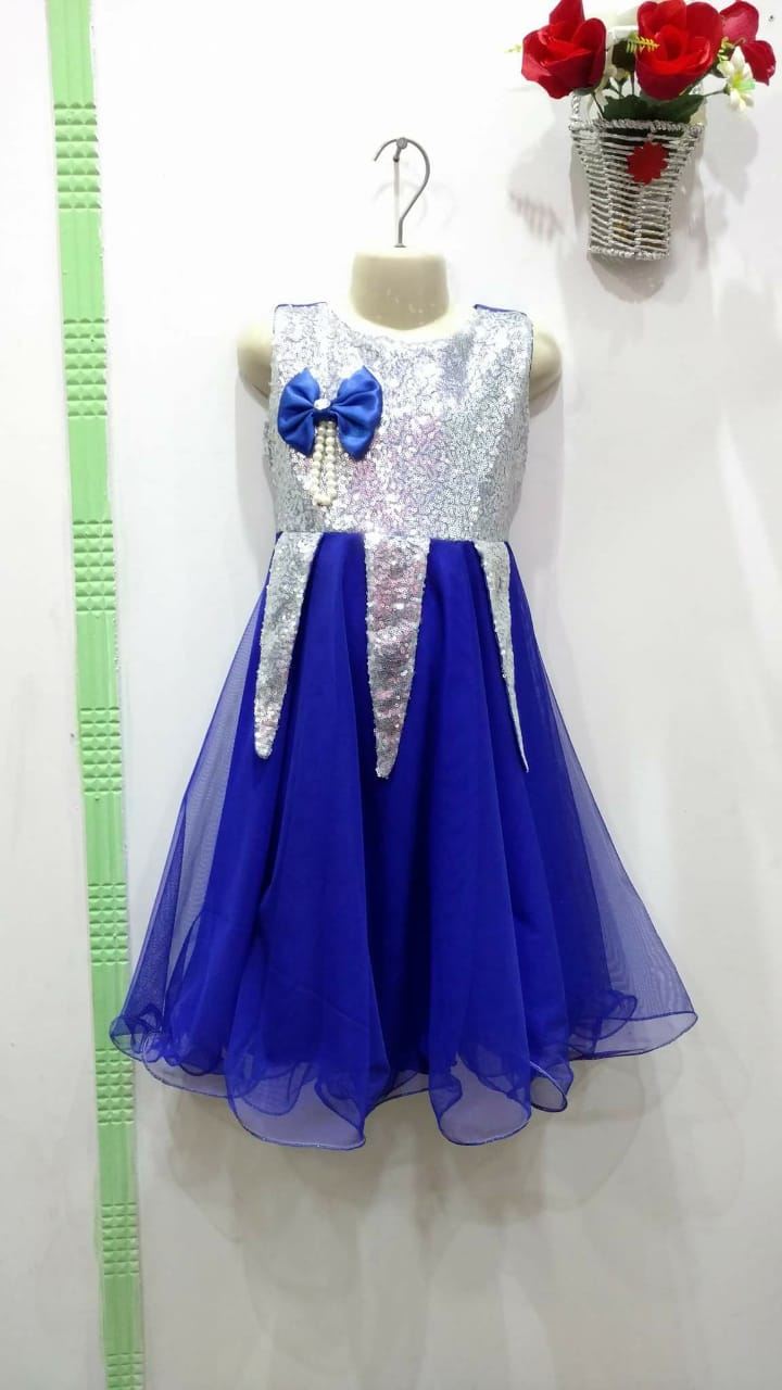 Brand new Ready to wear Frock for girls -Rolay blue