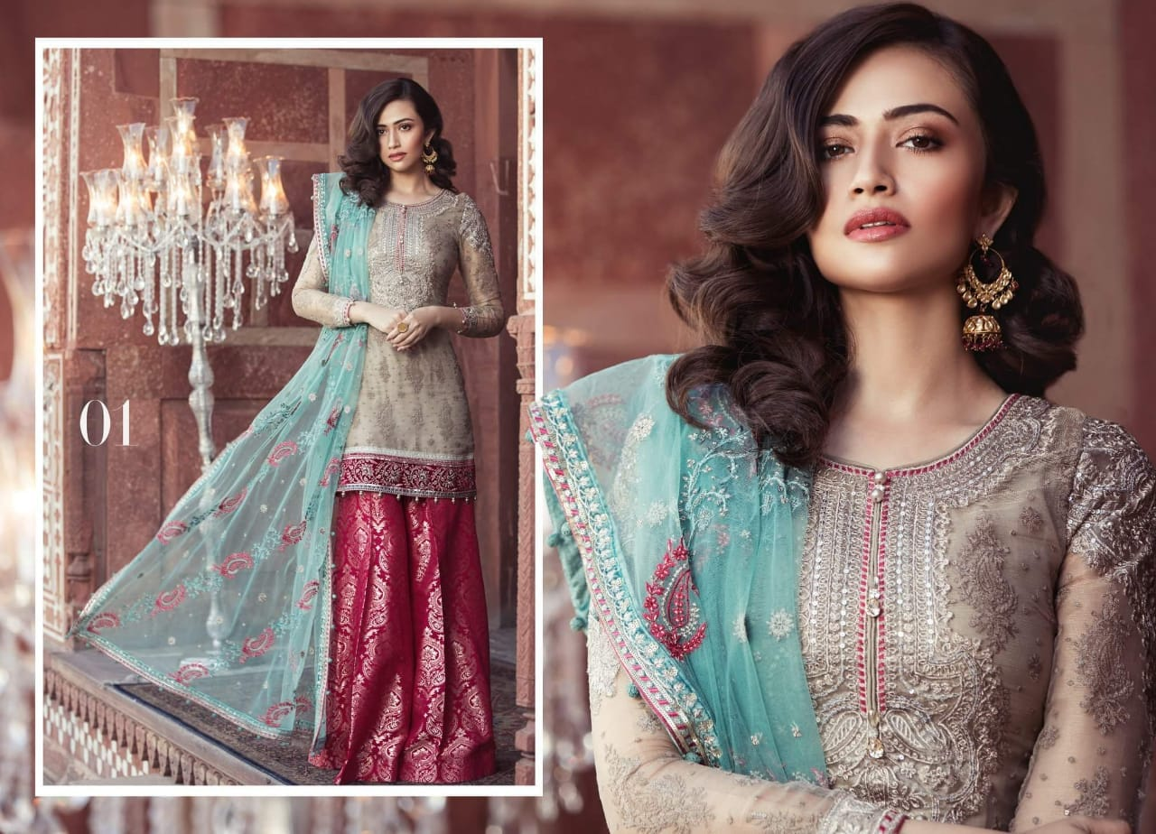 Designer Replica Women Linen Suit in Hazel Wood Color