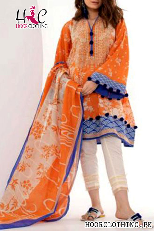 Digital Printed Linen Khaadi Suit Mid Season Wear Master Replica