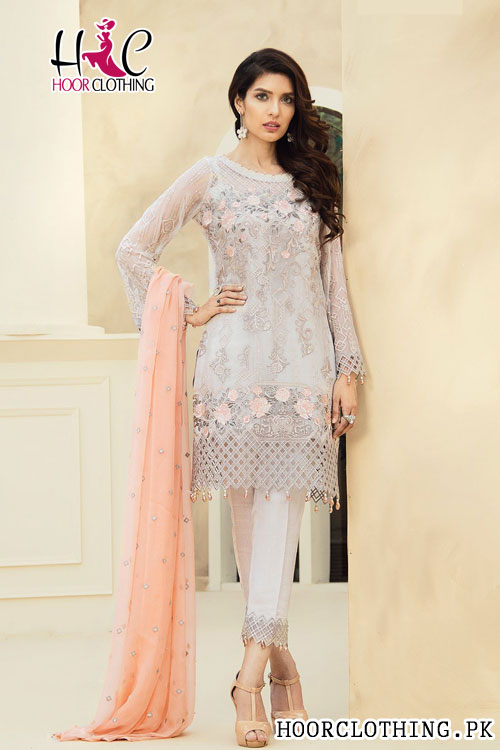 Jazmin Folk Tale Replica Lawn Dress with Pure Chiffon Dupatta