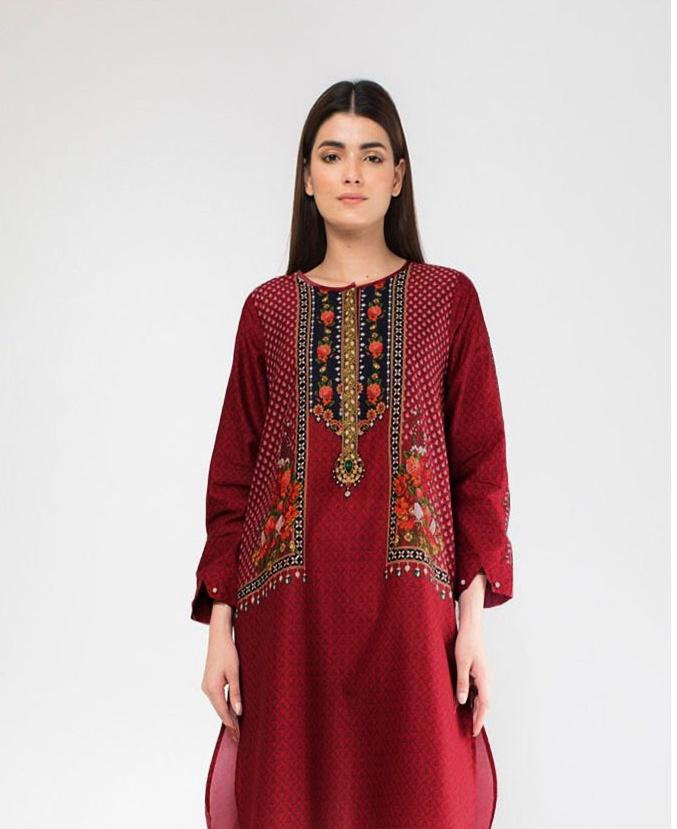 Khaadi Brand Replica 2pc Lawn Collection Summer Dress
