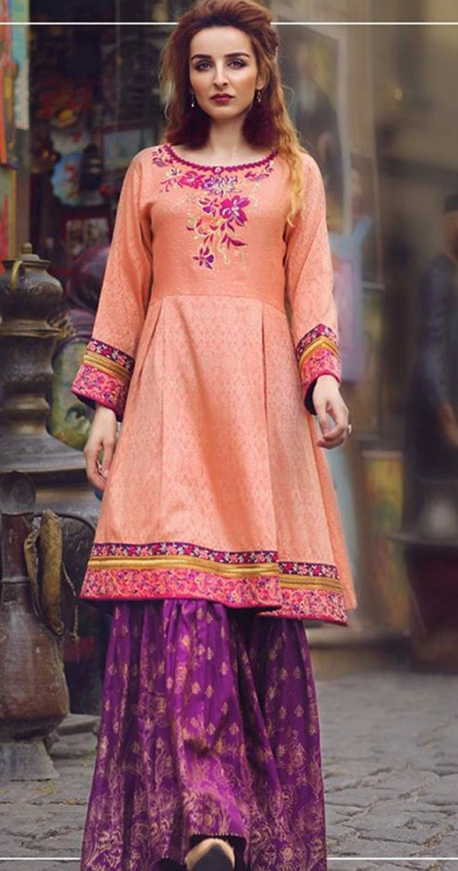 Ladies Replica 3pc Lawn Collection Summer Dress with Bamber Chiffon embroidered dupatta