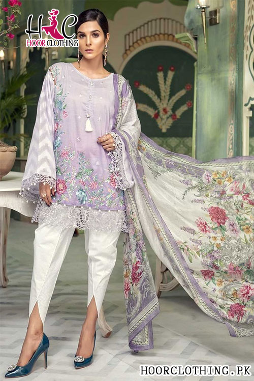 Maria B Luxury Embroidered Lawn Eid Collection 2018 Master Replica