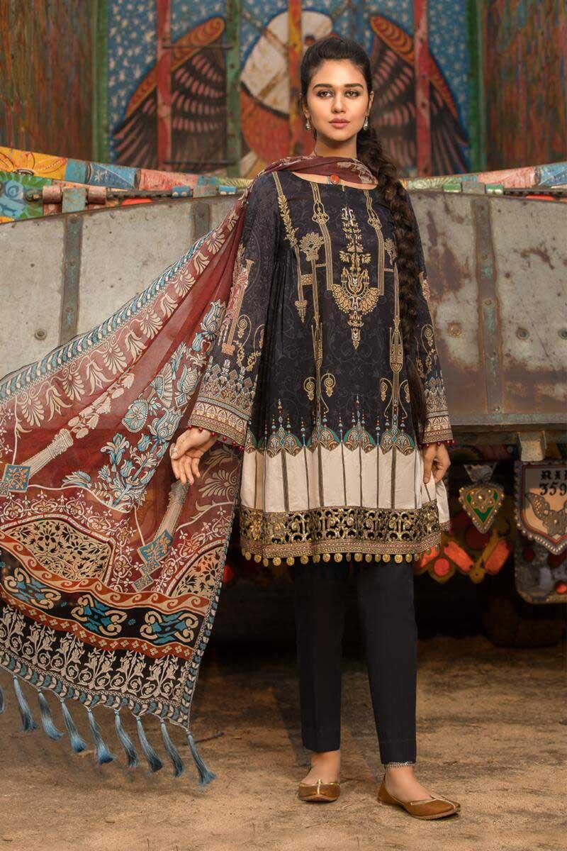 Maria b Replica 3pc Lawn Collection embroidered Summer Dress with Chiffon dupatta
