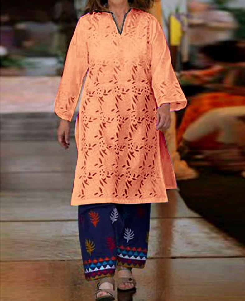 Replica Ladies 2pc Lawn Collection Summer Dress with Trouser embroidered