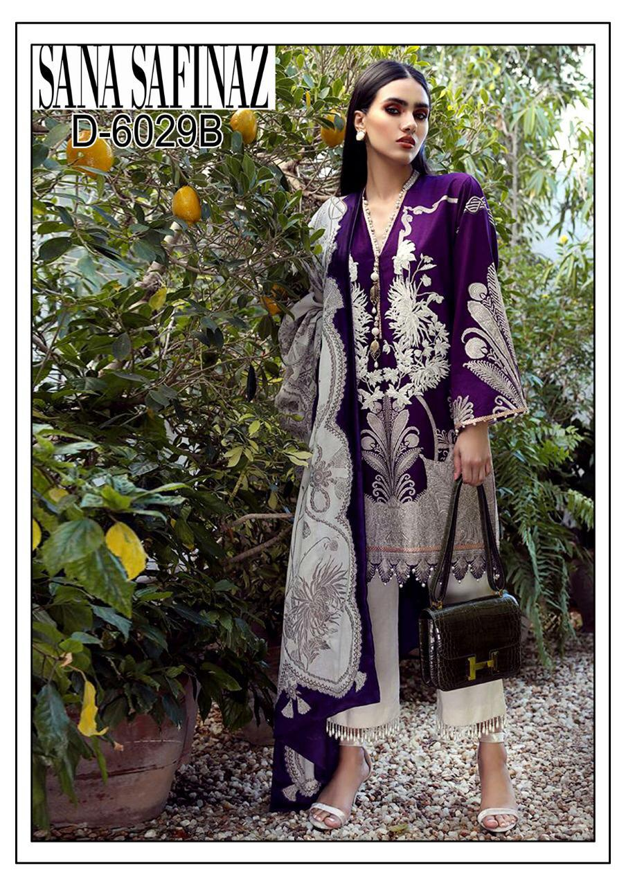 Sana safinaz 3pc Hit Lawn embroidered Collection Summer Dress with Chiffon duppta