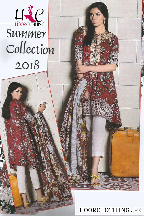 Summer Collection Women Linen Suit With Linen Dopatta In Garnet Color